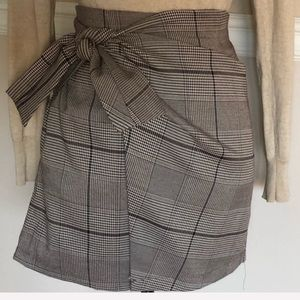 Oak & Fort Plaid Wrap Skirt